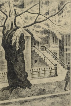"""Francis Foy (american, 1890-1963), Etching, """"willow"""