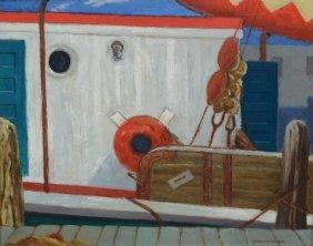 G Ralph Smith (american, Pa, 1907-2007), Oil On Board,