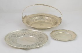 Je Caldwell Sterling Silver Reticulated Basket With