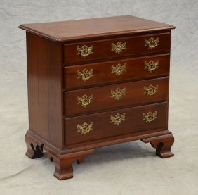 Benchmade Mahogany Chippendale Style Bachelor's Chest,