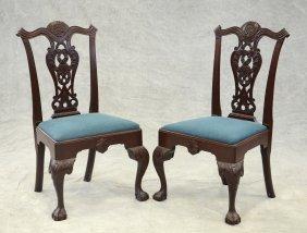 Pair Of Carved Mahogany Replica Philadelphia