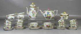 Herend Tea And Coffee Service To Include A Teapot,