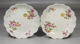 Pair Of Early Royal Vienna Scalloped Shallow Bowls Both