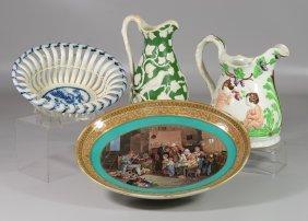 (4) Pieces English Pottery, Leeds Type Soft Paste
