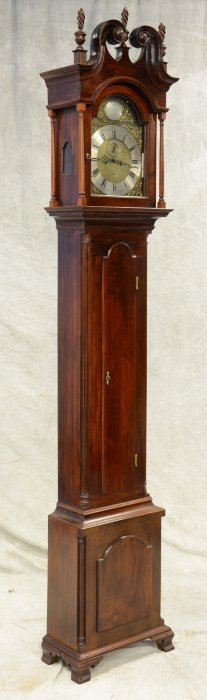 Walnut Chippendale Thomas Crow Tall Case Clock,