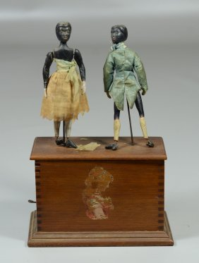 "Clockwork ""2 Jiggers Dancing"" On Box Dovetailed"