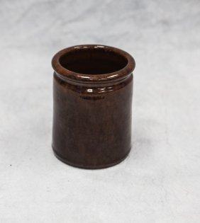 """Glazed Redware Pottery Jar, John Bell, 5 1/2"""" H X"""