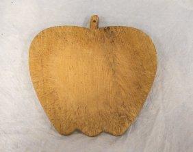 """Apple Form Pine Cutting Board, 19th C, 11"""" X 11"""""""
