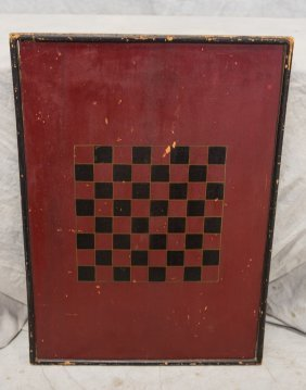 """Painted Pine Checkerboard, 20-3/4"""" X 29"""""""