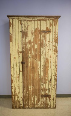 Yellow Pine Tongue In Groove Single Door Cupboard With