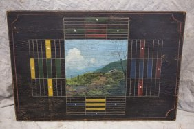 "Parcheesi Board With Landscape, 25""x17"""