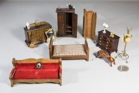 (20) Pieces Of Dollhouse Furniture And Accessories To