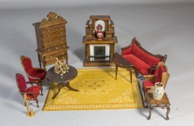 (15) Pieces Of Mostly Victorian Style Dollhouse