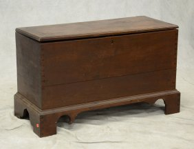 Dovetailed Walnut Blanket Chest, Top With Mitered