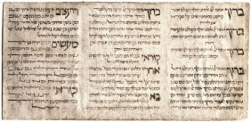Blessings Of The Megillah, Ink On Parchment, Italy 17th