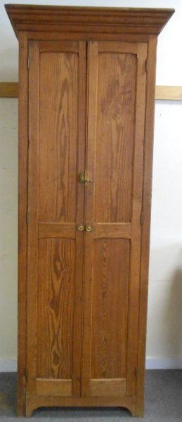 Circa 1900 Wainscoat Tall 2 Door Cupboard