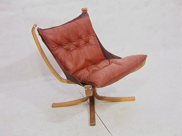 566: Vatne Mobler Norway Danish Modern Sling Chair. Bl : Lot 566