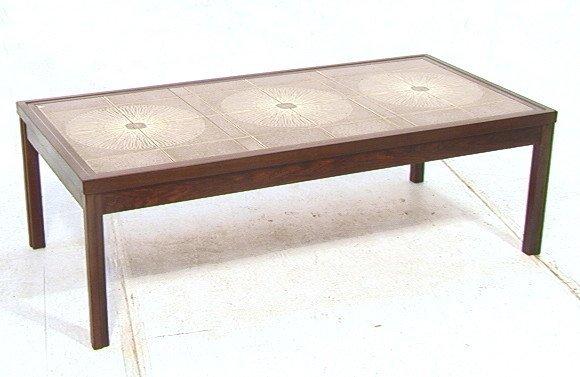 149 Rosewood Tile Top Coffee Table Square Ceramic Ti Lot 149
