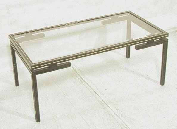 pierre vandel paris metal cocktail coffee table lot 353. Black Bedroom Furniture Sets. Home Design Ideas