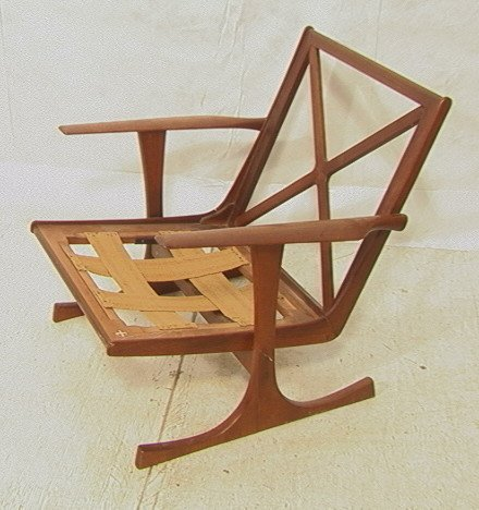 Selig chair danish modern teak lounge chair quot x quot lot 659