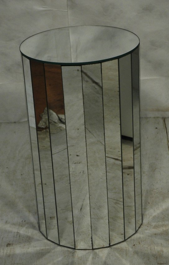 Mirrored Pedestal Stand Faceted Mirror Base With Lot 3