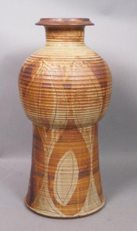 Large Pottery American Studio Vase. Frances Beane