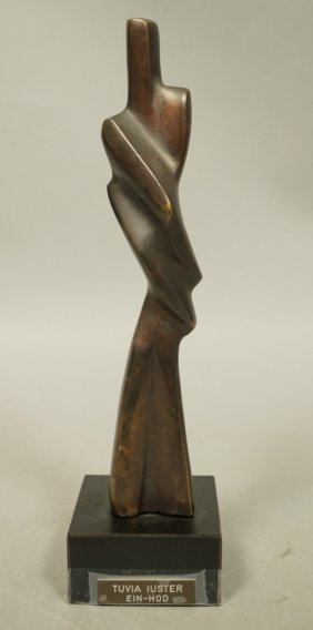 Tuvia Iuster Bronze Lovers Figural Sculpture. Sma