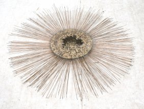 Large Brutalist Starburst Wall Sculpture. Mixed M
