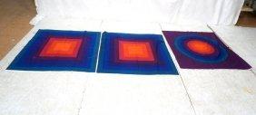 3pc Verner Panton Textiles For Mira-spectrum. Two