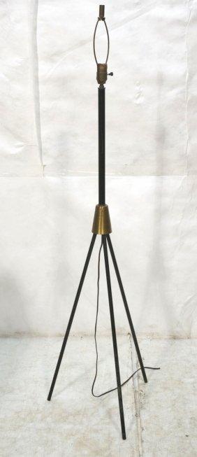 Tripod Black Iron Floor Lamp. Tripod Base With Br