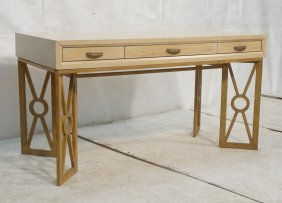 Henredon Decorator Modernist Desk. Limed Oak Fini