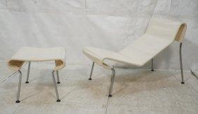 Modernist Chaise Lounge Chair & Stool Ottoman. Me