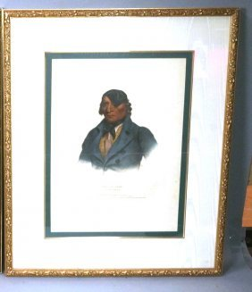 Framed American Native Indian Print. Sioux Chief: