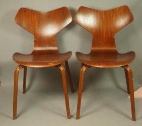 Pr Early Fritz Hansen Grand Prix Chairs. Danish M