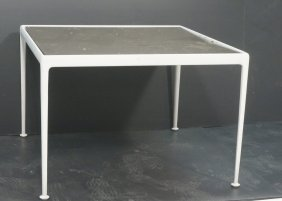 Richard Schultz Square Dining Table. Brown Enamel