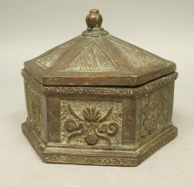 Heavy Metal Maitland Smith Hexagon Lidded Box. De
