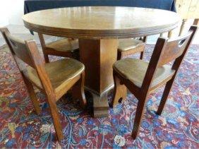 Arts & Crafts Oak Games Table