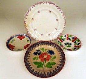 Spongeware 4 Different Plates
