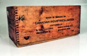 Advertising Wooden Cil Explosives Crate