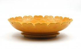 Imperial Yellow Lotus Flower Dish