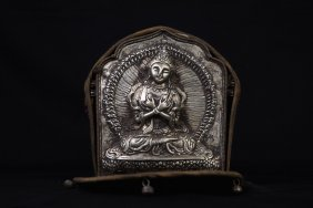 Tibetan Silver Buddha Shrine