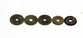 Five Bronze Coins