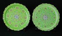 Bronze Green Enamel Plates