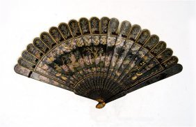 Black Gilt Lacquer Fan