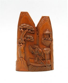 Wood Mountain Fisherman Carving
