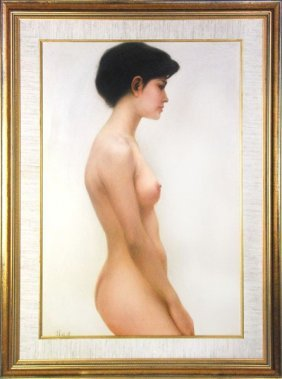 Nude Figure Painting Of A Woman (oil)
