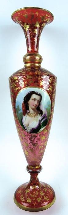 Antique Moser Bohemian Glass Vase