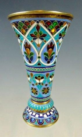 Russian Silver & Enamel Wine Cup
