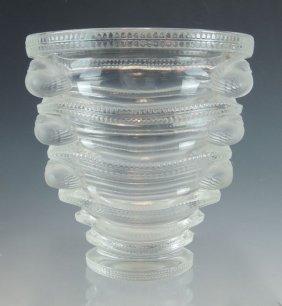 Lalique Saint-marc Art Glass Vase