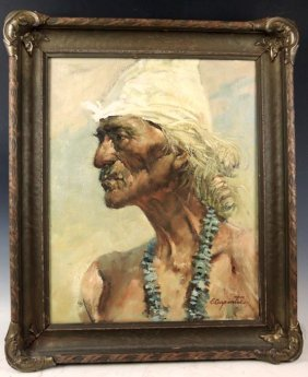 Earl Carpenter Painting Of Indian